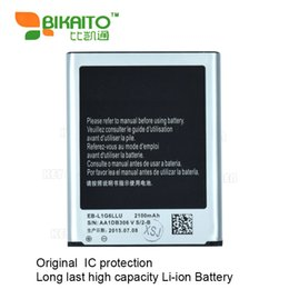 Wholesale S3 Batteries - HIGH Quality EBL1G6LLU 2100MAH capacity 3.8 V LI-ION HIGH Quality BATTERY 7.98WH FOR SAMSUNG Galaxy S3 I9300 BATTERIE by fedex