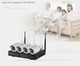 Wholesale Cctv Box Ip Camera - AmViewing 4ch wifi nvr kits cctv kit,960P HD Wifi ip camera+4ch 2.4G wireless NVR.with or w o network workable.Router module built-in the Wi