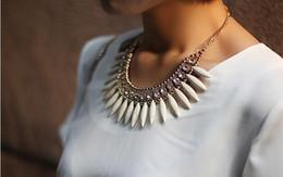 Wholesale Resin Chunky Pendants - Hot New Women Fashion Crystal Pendant Chain Choker Chunky Statement Fringe Bib Necklace Rhinestone Boho For Party Wedding M161