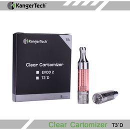 Atomiseur de Kangertech T3D eGo de Kangertech T3D original de Kanger T3D de 100% avec la vapeur énorme de capacité de la capacité 2.5ml de double bobine remplaçable pour la cigarette d'E ? partir de fabricateur