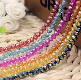 Wholesale Cheap Beads Pearls Necklaces - NEW!6 mm glass Loose beads,DIY charm beads bracelets necklaces,wholesale wheel pearl crystal beads,china Fashion cheap jewelry.20pcs.AL
