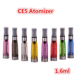 Wholesale Ecigs Ego Kits - CE5 Atomizers Electronic Cigarette Vape atomizers for ego CE5 Atomizer eGo Thread 1.6ml 2.4ohm 7 Colors for eGo Serial eCigs Kits