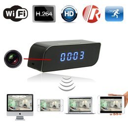 Wholesale Hidden Night - Hot new products 720P T8S P2P night vision wifi clock with wireless spy hidden cameras