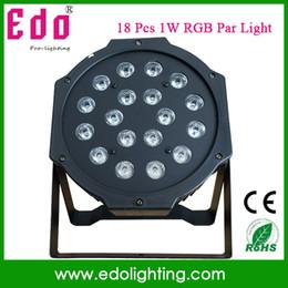 Wholesale Equipment For Dj - Wholesale-18*1W LED RGB Flat DJ equipment Par Light For Disco Home bar stage par light