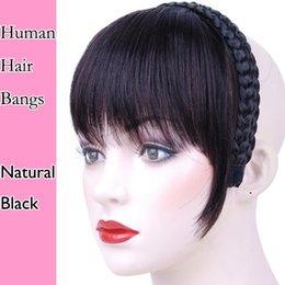 Wholesale Hair Fringes - 7A Brazilian virgin remy hair bang Human wholesale virgin Brazilian human hair bang fringe 4 color can choose free shippment