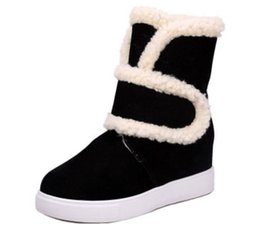 Wholesale Korean Red Tube - South Korean version of high level and snow boots women's 1111middle tube student short boots with a thick, thick, cotton shoes and boots