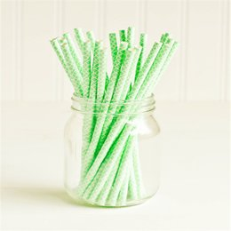 Wholesale Mint Paper Straws Wholesale - New Design Gold Damask Paper Party Drinking Straws Vintage Wedding Party Event Favors Mint Hot Pink Straws