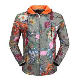 Wholesale Pearl Suspenders - Hot Designer Brand Jacket Windbreaker Luxury Fashion Giraffe Rhinoceros Elephant Print Thin Mens Jackets Palace Streetwear Coats For Men