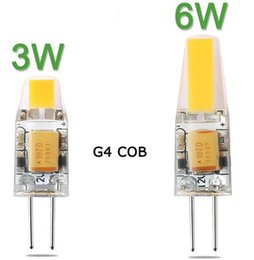 Wholesale Cob Led Smd 6w - X5 Mini G4 LED Lamp COB LED Bulb 6W DC AC 12V LED G4 COB Light Dimmable 360 Beam Angle Chandelier Lights Replace Halogen G4 Lamps