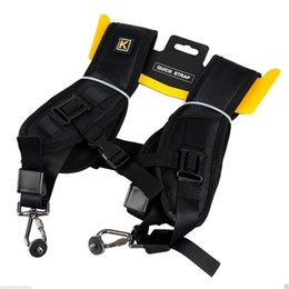 Wholesale Dslr Camera Strap Wholesale - Double Shoulder strap 2015 hot Black Professional Rapid Camera Sling Belt Strap For SLR DSLR For Canon Nikon Sony