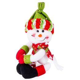 Wholesale christmas elf ornaments - Wholesale- 3 Type Christmas Wine Bottle Bag Dinner Party Decoration Ornament Santa Claus Snowman Elf Bottle Cover Bag Decor