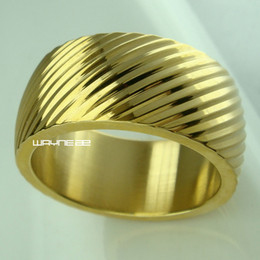 Wholesale Gold Ring S - Sz S-Y Man Seashell 18KT Gold Filled Engagement Wedding Ring r246MA