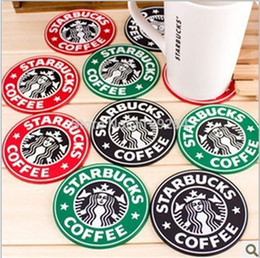 runde spitzen-tischsets Rabatt 10 stücke Version 1992 Meerjungfrau Krakens LOGO Starbucks Silikon Achterbahn 8,3 cm Runde Tischsets Japanischen Kaffee Pads Cup Matten TOP48