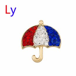Wholesale Rhinestone Umbrellas - Hot sale! Noosa 18mm 3 Colors Umbrella Christmas Button Inlay Crystal Ginger Snap chunk Jewelry AC141