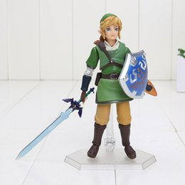 Wholesale Toy Action Figure Dolls - figma 153 the legend of zelda link PVC action figures boys toys model doll toy collection birthday gifts with box