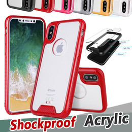 Wholesale bumper case scratches iphone - Crystal Clear Acrylic Hybrid Armor Anti-Scratch Soft TPU Bumper Cover Case For iPhone X 8 7 Plus 6 6S Samsung Note 8 S8 S7 Edge