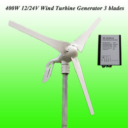 Wholesale Turbine 24v - 2015 Free Shipping 3 Years Warranty Hot Selling 3 Blades 400W 12V 24V Wind Turbine Generator+Waterprood Wind Charge Controller