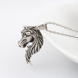 Wholesale Cheap Horse Necklaces - Cheap price Fashion necklace horse charm necklace & pendant stainless steel jewelry accessories for men and women