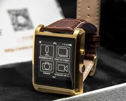 Wholesale Wristwatch Mp3 Player - 2015 Heart rate DM08 Bluetooth Smart Watch Smartwatch camera Leather Business Wristwatch Full View HD Screen For Android IOS Phone