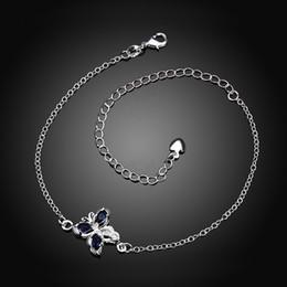 Wholesale Copper Legs - Foot Jewelry Silver 925 Anklets for Girlfriend .925 Silver Women Sexy Body Jewelry Charms Leg Bracelet 925 Sterling Silver Korean Anklet