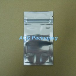 "Wholesale Retail Packaging Package Pouch Bag - 7*13cm (2.8*5.1"") Aluminum Foil   Clear Resealable Valve Zipper Plastic Retail Packaging Packing Bag Zip Lock Ziplock Bag Pouches Polybag"