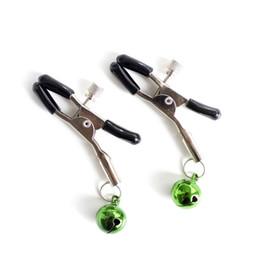 Deutschland 1 Paar Nippelklemmen mit Glocken Metall Nippel Clips Labia Clips Clamp Bodnage Fetisch Sex Toys für Paar Erwachsene Spiel Sex Produkte 171001 Versorgung