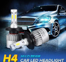 Wholesale H7 Headlamp Bulbs - Free shiping H4 H7 LED Car Headlight bulb H11 H1 H13 9004 9005 9006 9007 Hi-Lo Beam Auto Headlamp Car Light 72W 8000Lm Automobiles Fog Light