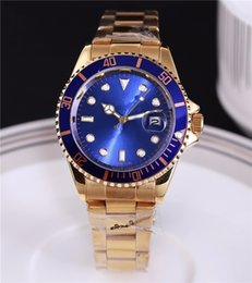 Wholesale Big Male - 2018 Famous design Fashion Men Big Watch Gold silver Stainless steel High Quality Male Quartz watches Man Wristwatch business classil clock