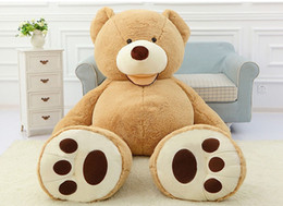 Wholesale Big White Teddy - Toycity American big Teddy plush Bear stuffed Skin factory price light Dark brown Purple pink white 100 160 200 260 340cm high quality