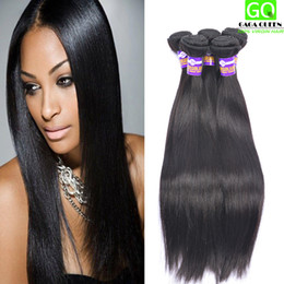 Wholesale Wholesale Factory Discount - Discount Unprocessed Hair Weave Fast Shipping 4Bundles Peruvian Virgin Hair Straight Hair Weft Silky Straight Hair Product Factory Wholesale
