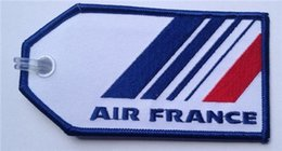 Wholesale Customised Bags - Air France National Embroidery Flag Bag Tag to Your Own Customised Design 200pcs per lot