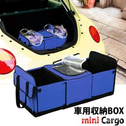 Wholesale Gps Box Packing - GPS Hot sale 2014 High quality car storage trunk storage pack folding tool auto supplies bag green trash sorting box cooler bag