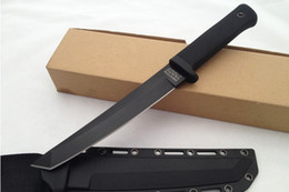Wholesale Cold Steel Knife Recon - OEM copy Cold Steel RECON TANTO 13RTSM Fixed blade Hunting Kinves D2 Blade ABS Handle Black tactical Survival camping Knife
