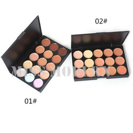 Wholesale Block Logos - 15 Color Nude Natural Cream Concealer Palette Professional Makeup 15color Concealer Makeup Palette Accept OEM Logo