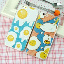 Wholesale Apple Eggs - For Iphone 7 8 7 8Plus 6 6s 6 6sPlus Mobile Phone Case Poached Egg Phone Shell Soft Cover Silicone Phone Sets