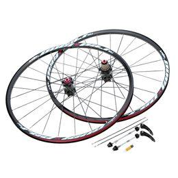 Wholesale 26 Rear Bicycle Wheel - 26'' 24H Bicycle Wheel Durable Disc Brake Bike Wheel MTB Mountain Bicycle Bike Wheelset Hubs Rim Front Rear Bike Parts Set