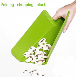Wholesale Kitchen Chopping Blocks - Folding chopping Block fruit meat vegetable kitchen Rectangle Cutting plastic board practical colorful Cooking Tool freeshipping