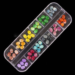 Wholesale 3d Nail Molds - Wholesale-Newest 60pcs set Flatback Mixed Colorful Decorative Stones 3D Nail Art Decoration Acrylic Nail Tips UV Gel Acrylic Nail Supplies
