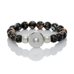 Wholesale Cheap Metal Buttons - 2015 Best Christmas gift Fashion metal Noosa button Bracelet cheap Free Shipping iridescence alloy beads Beaded, Strands Bracelet