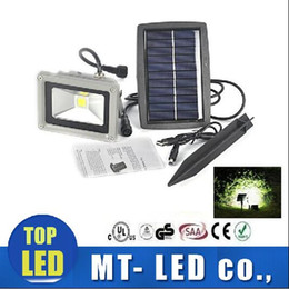 Wholesale Solar Floodlighting - new 10W Solar Power LED Flood COB Night Light Garden Spotlight Waterproof Outdoor floodlight project lamps