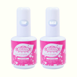 2019 gel de verano para uñas Wholesale-Perfect Summer Primer Base Gel Nail Art UV Gel Polish 15ml Top Coat rebajas gel de verano para uñas