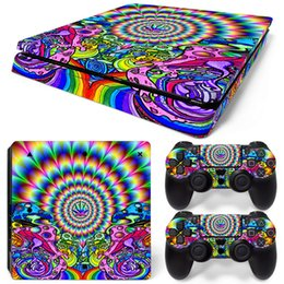 Wholesale Playstation Controller For Pc - High Quality Cool Vinyl Decal for PS4 SLIM Skin Stickers Protector For PlayStation 4 SLIM Console & 2 PCS Controllers Skin Stickers