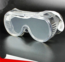 Wholesale Vent Supplies - Workplace Safety Supplies Eyes Protective Lab Wind And Dust Anti Fog Impact Curing Clear Vented Medical Use Safety Goggles Glass 12Pcs Lot