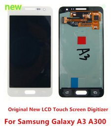 Wholesale Display S3 Original - Top AAA Original New LCD Display Screen Digitizer Assembly Parts For Samsung Galaxy A3 A300 A300X free shipping