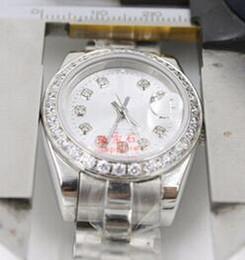Senhoras assistir preço mais baixo on-line-Top marcas de luxo Presidente Diamante Data Mulheres Relógios Inoxidável Menor Preço Das Senhoras Das Mulheres Relógio de Pulso Mecânico Automático Mulher Senhora Meninas