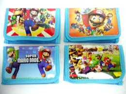 Wholesale Mario Wallets - Wholesale - New Lot 12 pcs Super mario cartoon children wallet purses gift bags