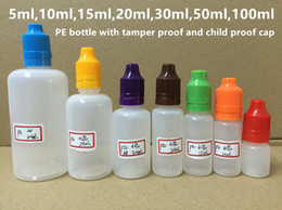 Wholesale Child Proof E Juice Bottles - 10ml 15ml 20ml 30ml 50ml 100ml PE Dropper Bottle E Juice Bottle With Tamper Evident Child Proof Cap Long Thin Tip Fast Shipping