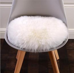 Wholesale Natural Sofas - WonderFur SP11011P 75*106cm sheepskin rug natural white color shaggy sheep skin carpet for home decor fur floor cover sofa cover blanket