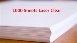 Wholesale Printer Sheets - DHL Fast Delivery 100 Sheets A4 Laser Printer Water Slide Decal Paper Sheets Transparent Clear