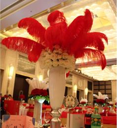 Argentina 20-25CM plumas avestruz plumas pieza central para el banquete de boda decoración de mesa plumas de avestruz blancas naturales (muchos colores para que usted elija) Suministro